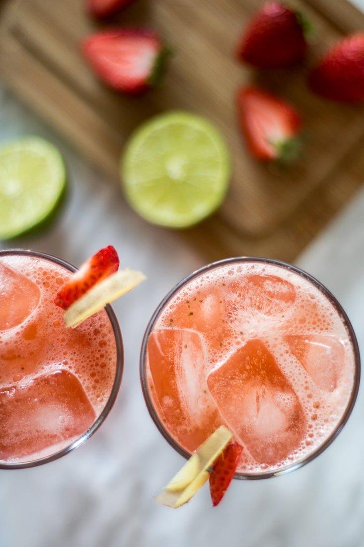 juice cups close up