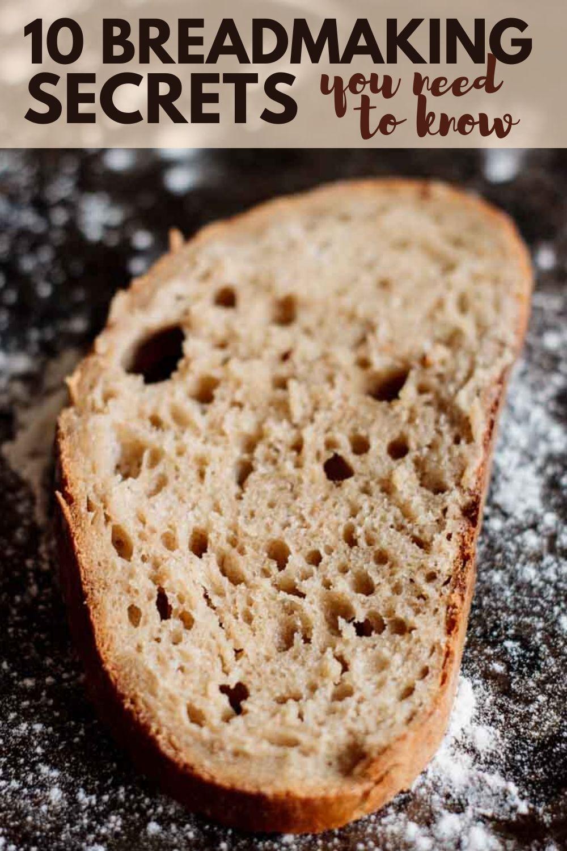 Pin image of bread making secrets.