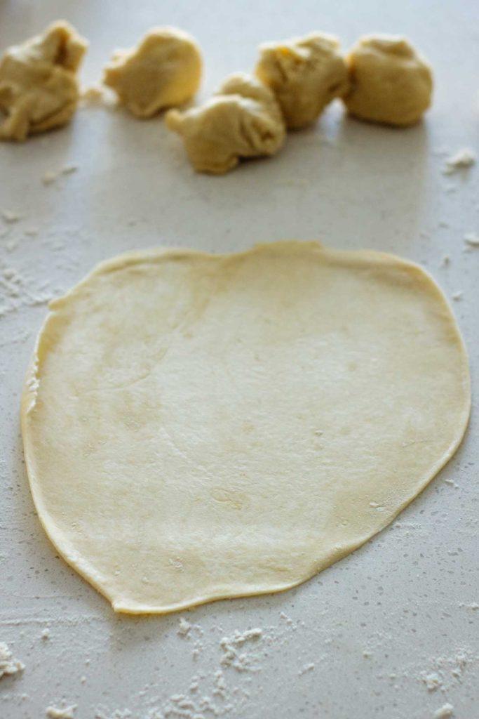 tortilla rolled open