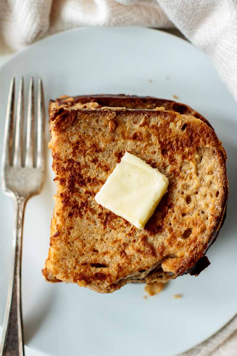 sourdough french toast with butter