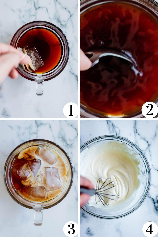 brown sugar milk tea step by step collage