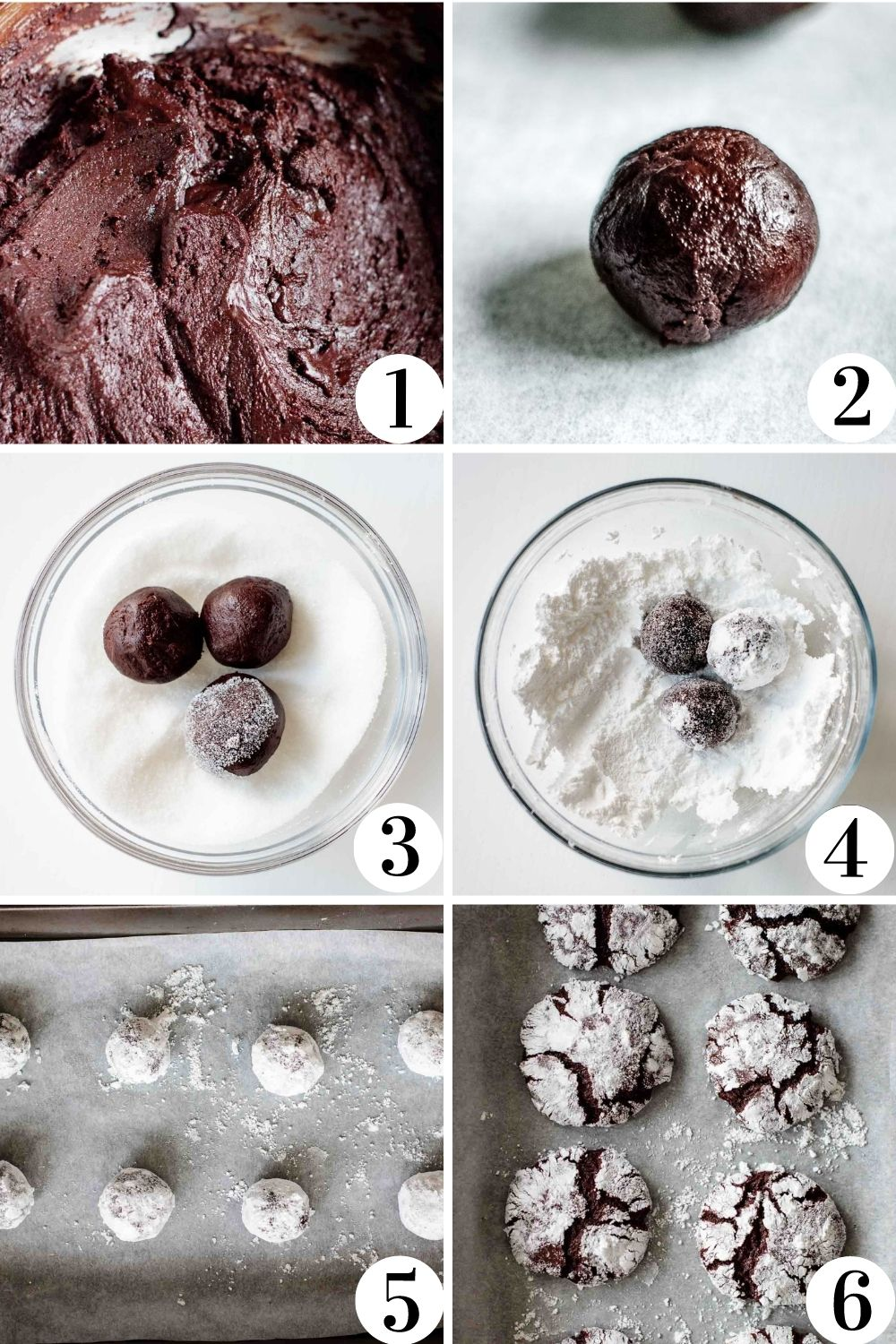 step by step collage of how to make this cookie recipe