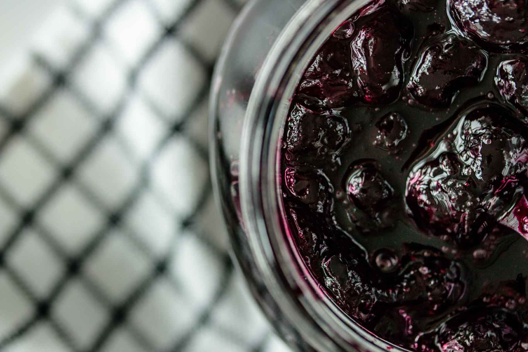 blueberry compote in a jar