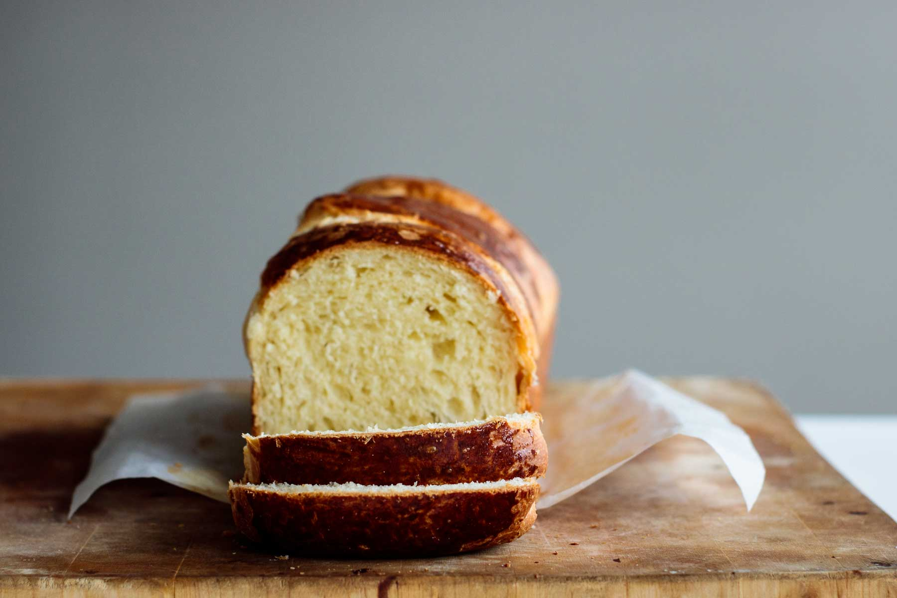 loaf sliced showing its crumb