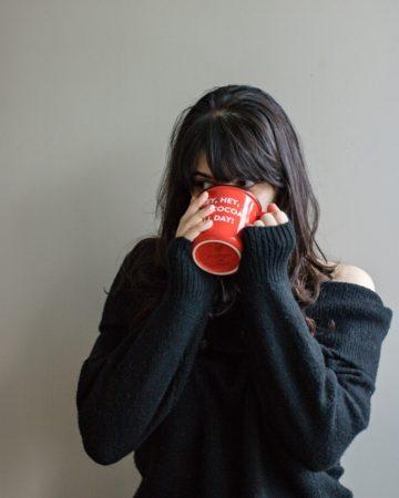 tatiana drinking milk