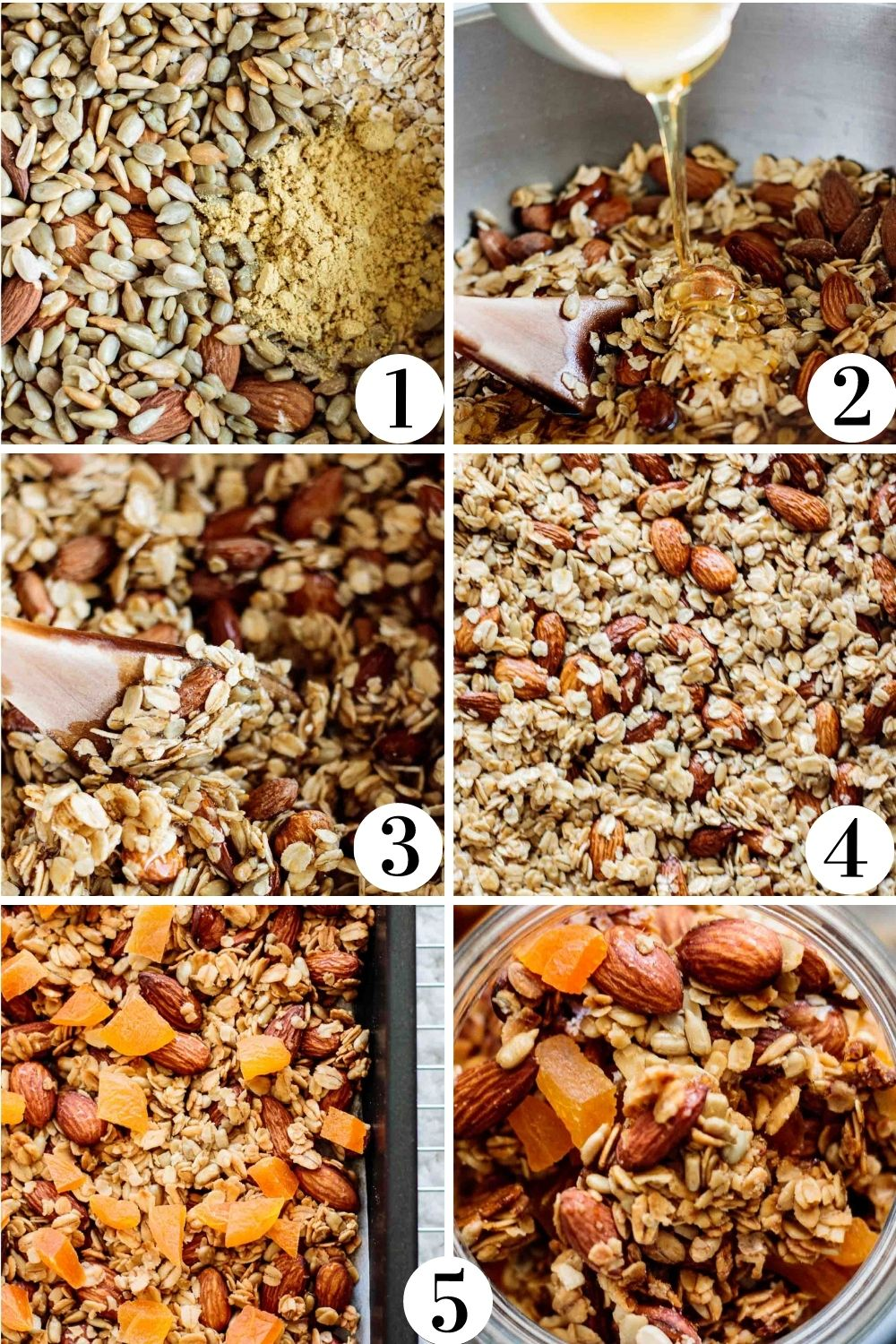 collage showing a step by step of this recipe