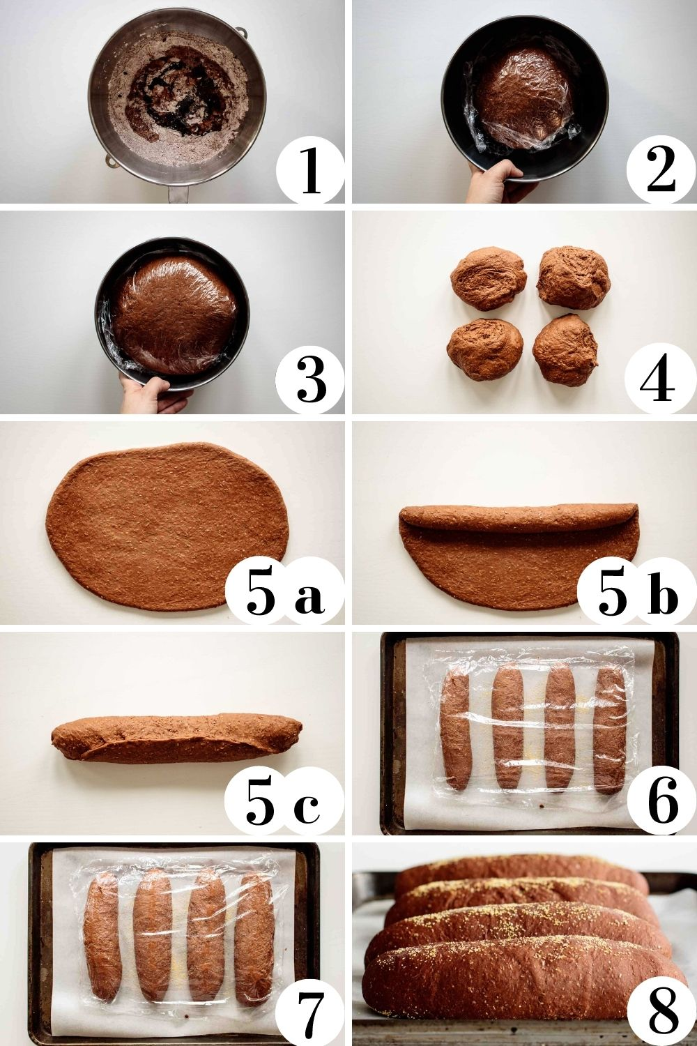 Step by step collage of how to make this copycat recipe.