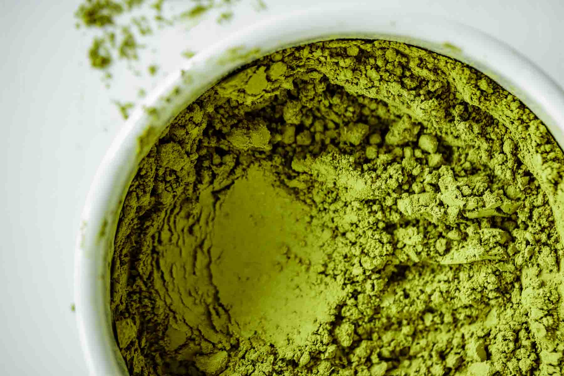 Texture of Matcha powder.