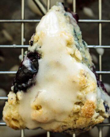 Blueberry Scone with glaze