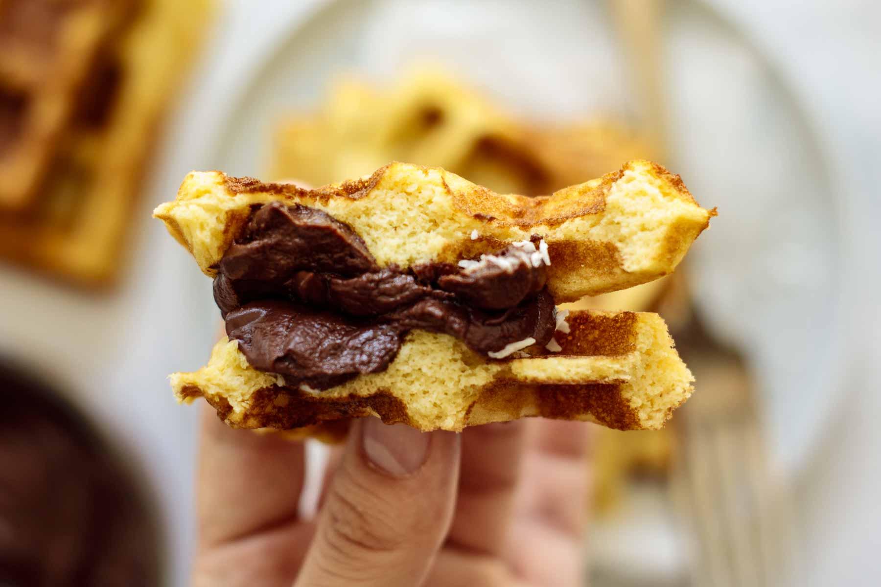 Inside waffle's texture.