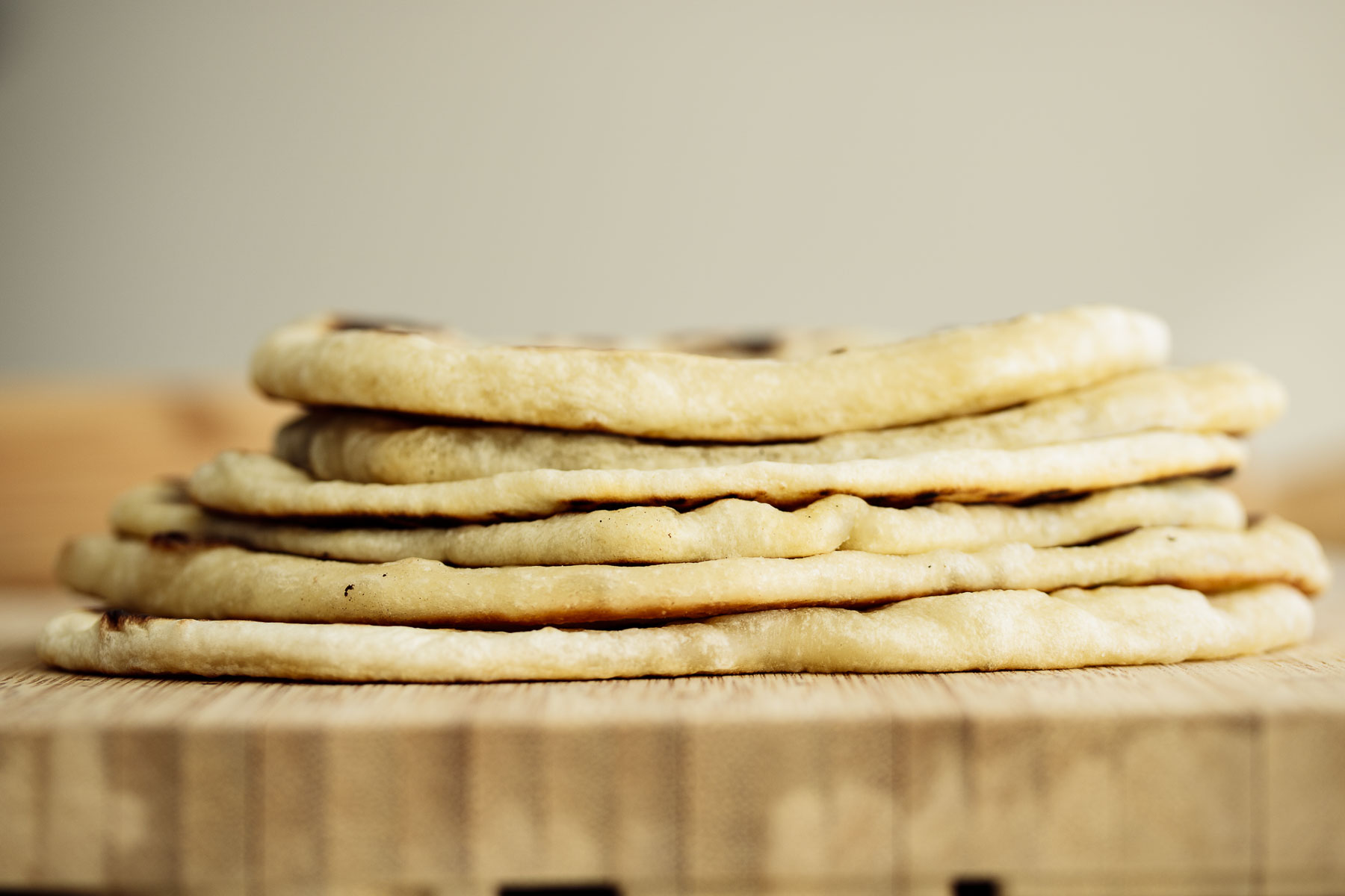 A stack of flatbread.